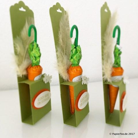 Stampin'Up! Ostergruß, Gruß vom Osterhasen, Lindt Schokolade, Karotten-Schrimchen, Osteranhänger