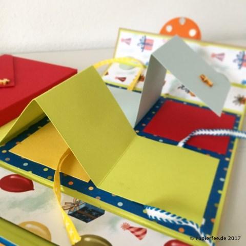 "Stampin'Up!, Kinderalbum, Designerpapier ""Nostalgischer Geburtstag"", Leporello, Mini-Leporello"