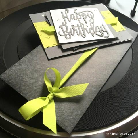 Stampin'Up! Männerkarte zum Geburtstag, Limette, EnvelopePunchBoard