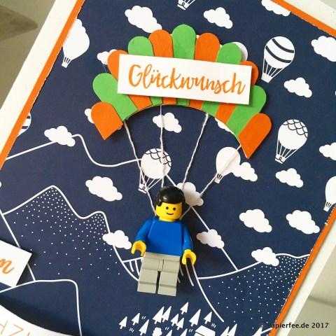 Stampin'Up! Glückwunschkarte zum 60. Geburtstag, Paragliding-Gutschein