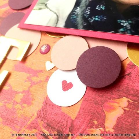 """Stampin'Up! Scrapbook, Special Designer Series Paper """"Painted with Love"""", Layout, Besonderes Designerpapier """"Mit Liebe gemalt"""", Frühjahr-/Sommerkatalog 2018"""