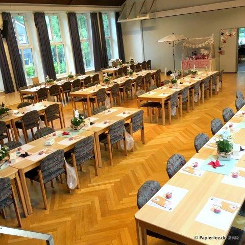 Stampin'Up!, Dekoration, Workshop, Jubiläum Jenni Pauli, Erdbeeren, Margeriten, Wimpelkette, Candybar