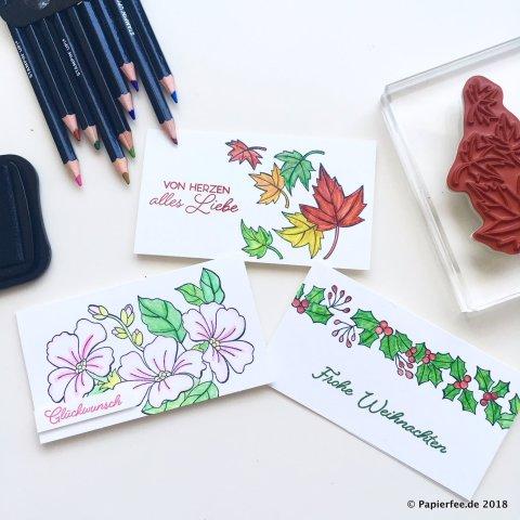 Stampin'Up! Farbenspiel der Jahreszeiten, Aquarellstifte, Framelits, Stempelset