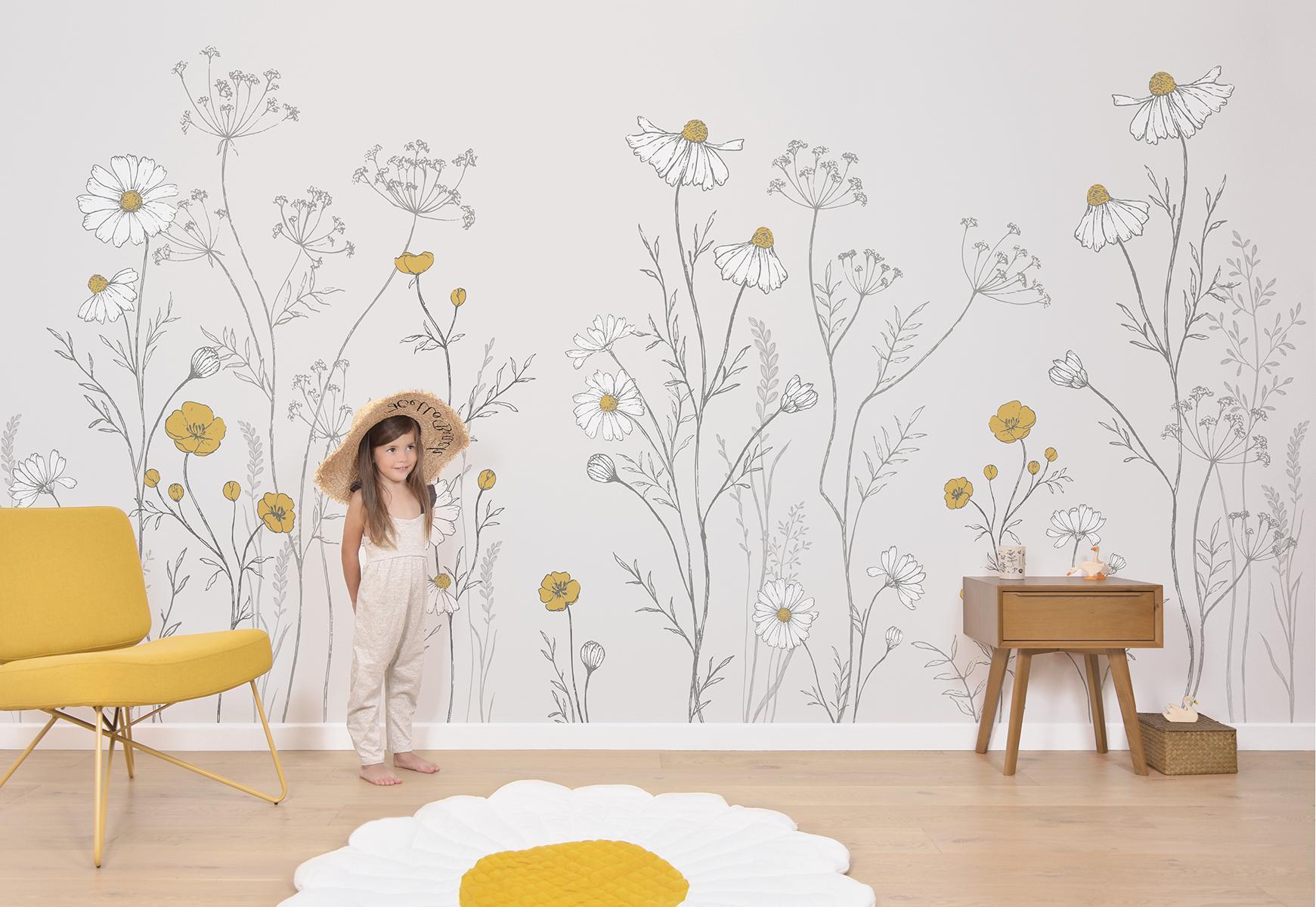 papier peint panoramique fleurs