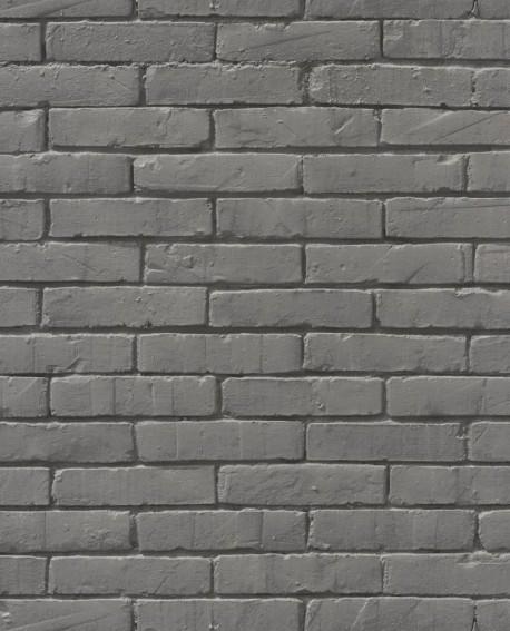 papier peint caselio pretty lili briques gris 69139007