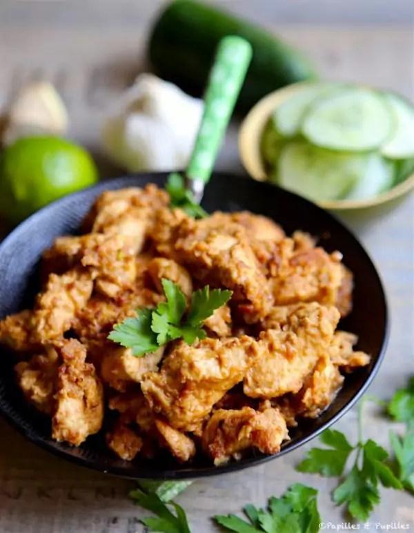 blancs de poulet sautes sauce satay