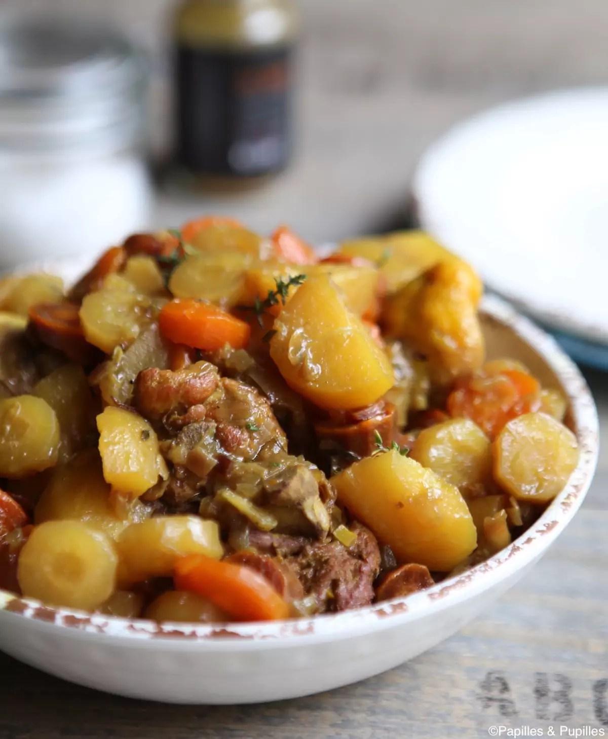 poulet aux carottes pommes de terre et epices douces