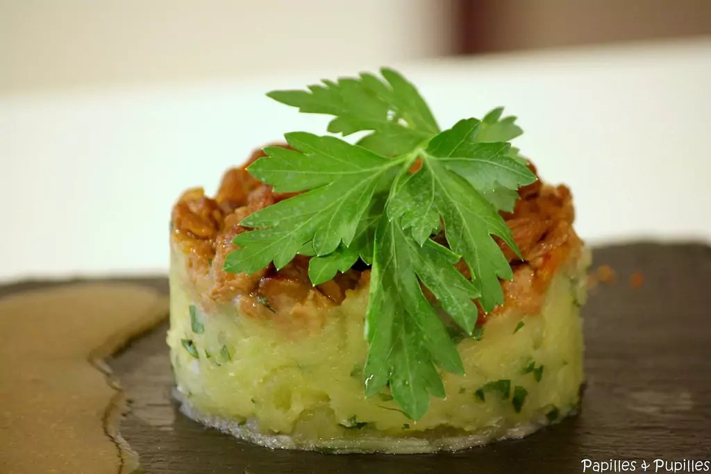 Carbonnade de souris dagneau  la bire crase de pomme de terre au persil plat