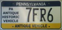 Pennsylvania License Plate Image