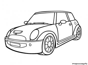 Mini Cooper Concept Coloring Pages