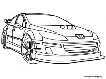 dessin de voiture tuning a colorier 205