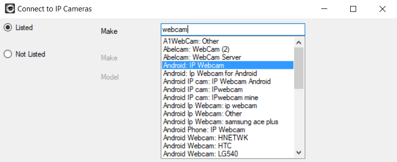add ip webcam android