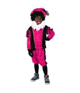 piet-kostuum-kind-velours-roze-zwart