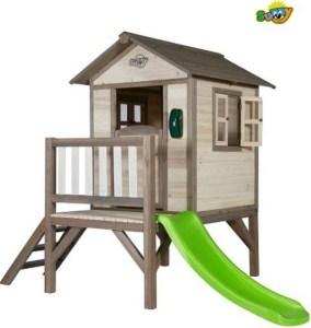 Sunny Lodge XL speelhuisje met glijbaan