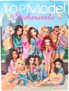 top model sticker boek world