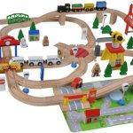 luxe houten treinbaan voor jongens
