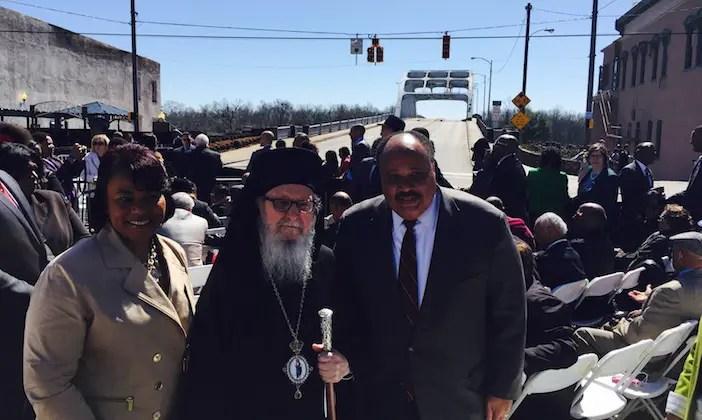 Martin Luther King III, Bernice Albertine King, and Archbishop Demetrios of America