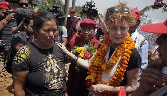 Susan Sarandon in Nepal