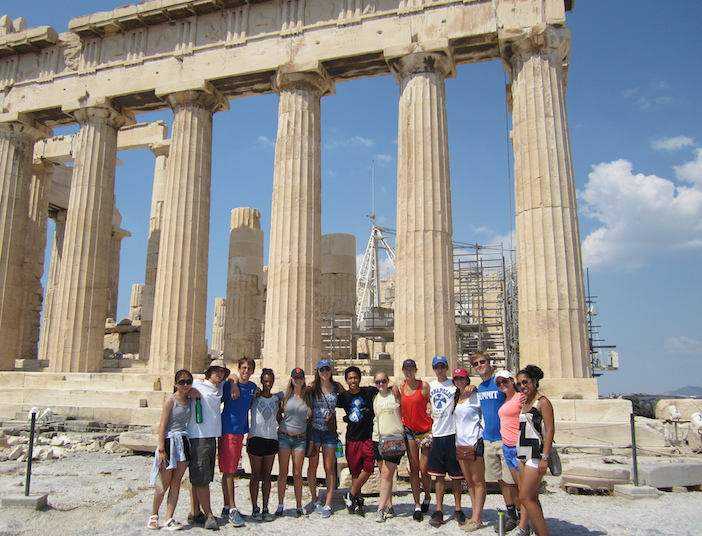 No study trip to Greece would be complete without a visit to the Parthenon