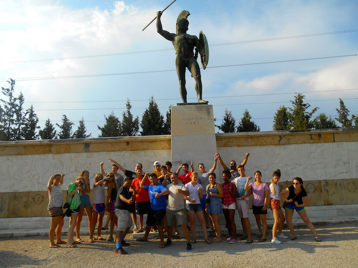 This is Sparta! Students travel throughout Greece during the 4 week program