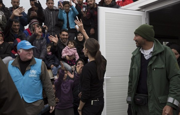 (Photos) Angelina Jolie Latest Hollywood Celebrity to Visit Refugees in Greece