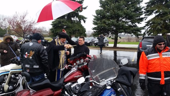 Chicago Bikers Kick Off Summer Riding Season with Bike Blessing