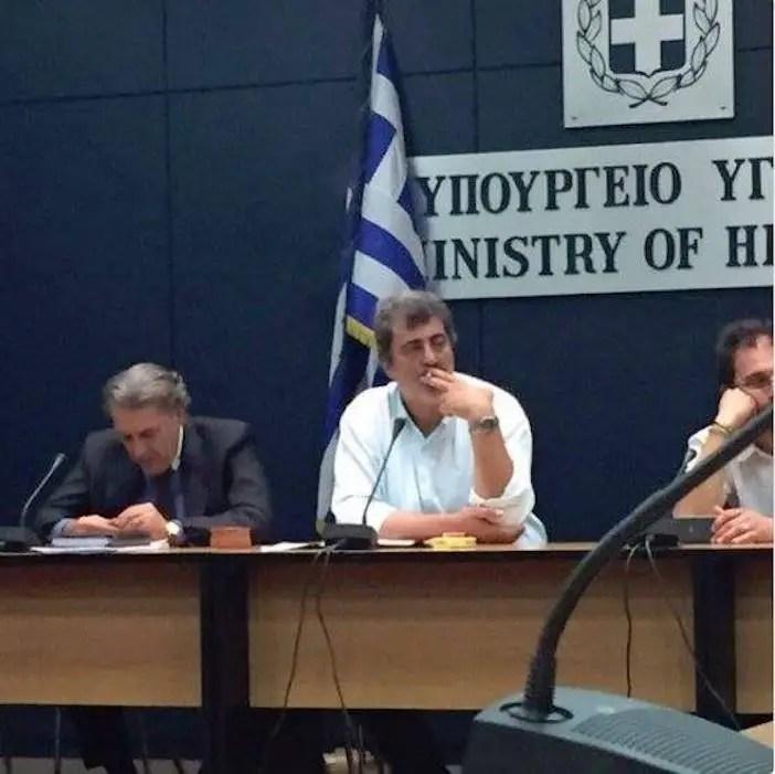 Greece's alternate Health Minister Pavlos Polakis