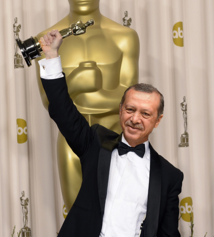 And the Oscar for best director of a staged coup goes to... Recep Tayyip Erdoğan (montage by Enrico Pieri)