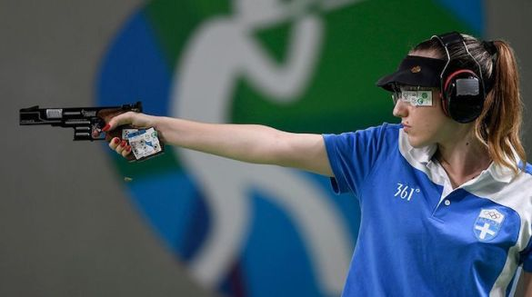 (Photos) Greece's First Olympic Gold at Rio Games to Shooter Anna Korakaki
