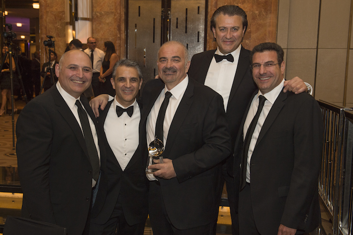 Greg Gavrilides in the middle with Tim Papadopoulos (Plastic Surgeon), Peter Abraam (Executive Director of Royal Group), Greg Gavrilides, Nick Mylonas (CIO of Findex and previous HACCI President) and Fouad Deiri (CEO of Deicorp)