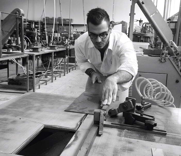 Aristotle Loumis, the founder of Ellison at the company's manufacturing facility in Greece