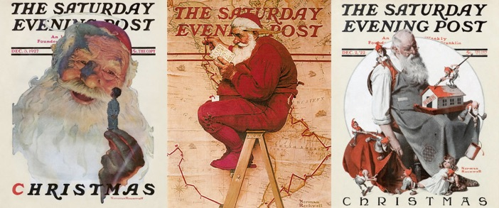 "Norman Rockwell's Santa Claus depictions helped create the image we know today of ""Jolly Old Saint Nick."""