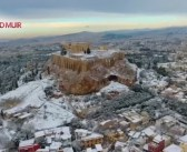 (Video) Drone Footage of the Stunning Snow-Covered Acropolis on ABC's World News Tonight