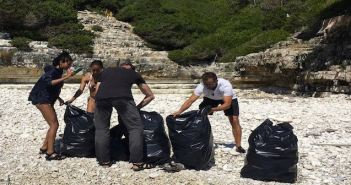 Will Smith's Family Lends Helping Hand at Greek Beaches