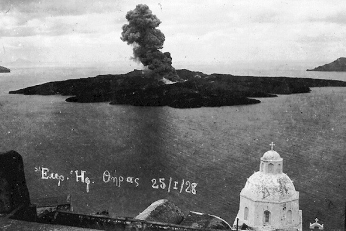 On This Day January 25 1928 Santorini S Restless Volcano