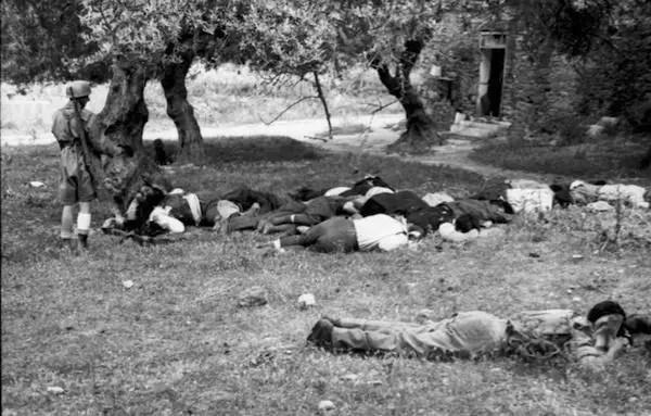 Kreta, Kondomari, Erschieflung von Zivilisten