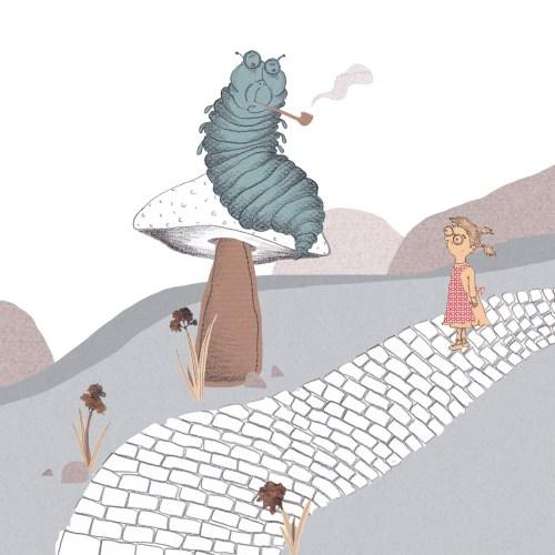 Alice im Wunderland-Absolem-Carroll