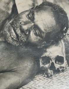 Asmat skull culture– Agats Asmat museum