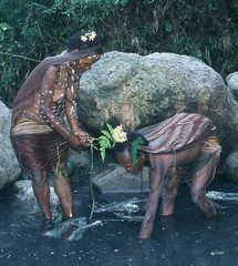 Dani tribe– Papua highlands– Irian Jaya– Women in soltywater