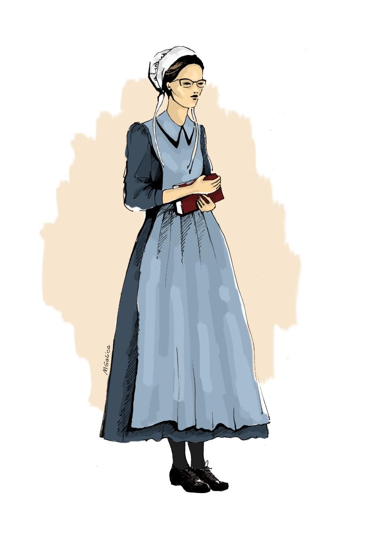 amish, galica magdalena, papuga z usa