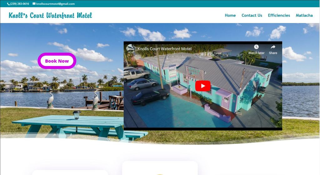 Knoll's Court Waterfront Motel in Matlacha, Florida
