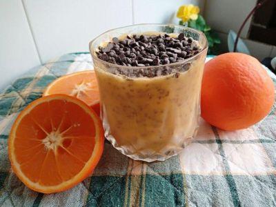 Puding de naranja con chía