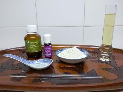 Ingredientes para mascarilla para piel seca