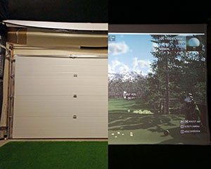 Par2pro S Online Golf Simulator Analyzer Superstore New Stealth Retractable Impact Projection Screen