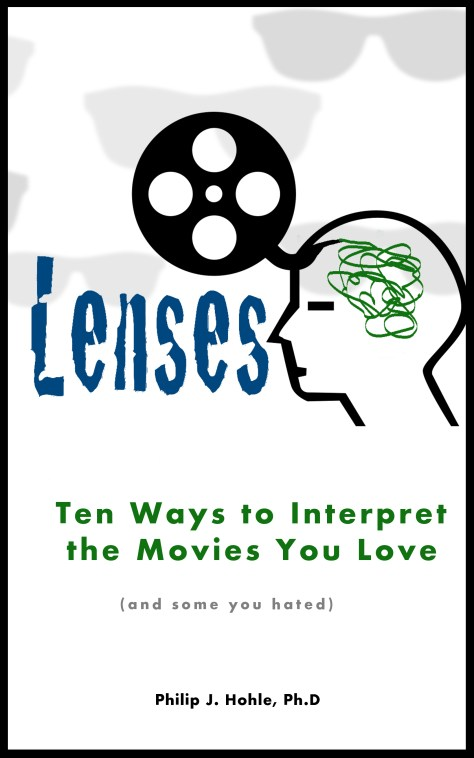 LENSES book cover man with film running in his head