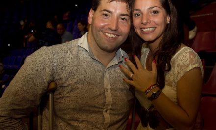 Marro y su romántica propuesta de casamiento en el Luna Park