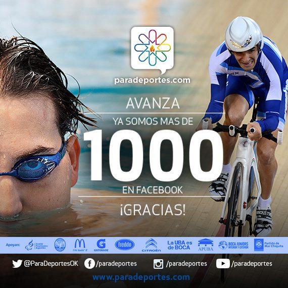 ¡Ya somos más de 1000 en facebook!