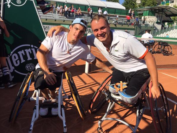 Tenis en silla de ruedas: Gustavo Fernández subcampeón en dobles de Roland Garros