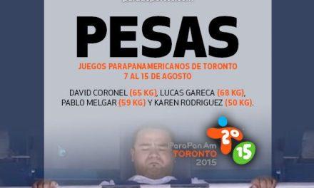 Argentina ya tiene a sus pesistas para Toronto