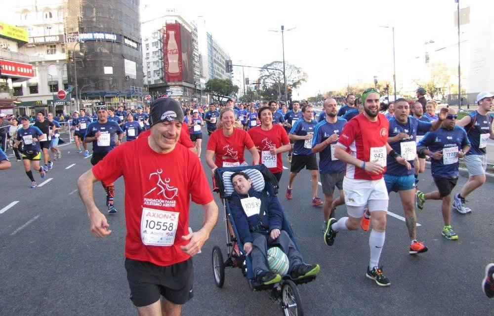 Atletismo asistido en la media maratón de Buenos Aires